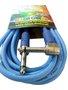 Cabo Para Intrumentos Mac Cristal Colors 5 Metros Azul Com Plug Em 90º graus